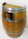 Compack Oak Wine Barrel Waste Recepticle