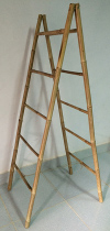 Self standing Double Bamboo ladder rack