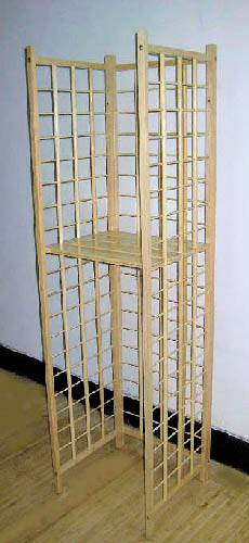 CBW Series E Bamboo Cube Display Bins Wall Unit
