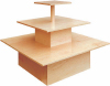 BST-26 Tiered E Bamboo Square Display Table