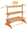 EBLS Engineered Bamboo 3 Tiers Shelves Rack