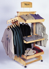 EBRW Engineered Bamboo Clothing Rack with Shelves