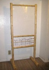 LPS-72 Log Wood Poster Stand