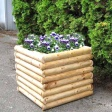 LSP Series Cabin Log Square Planter