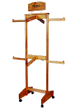 SB24CR series 2 tiers 4 ways clothing rack