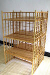 Engineered Bamboo Gridwall Shelving