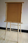 DDE Series Log Wood Double Sided Display Easel