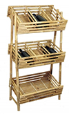 BBB-48, Bamboo Tiki Liquor Display Bins
