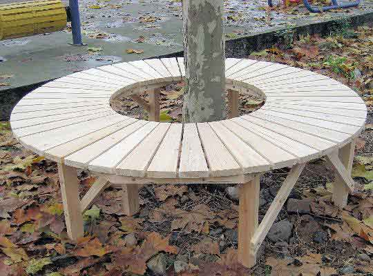 Breathtaking circle tree bench gallery best inspiration for Benches that go around trees