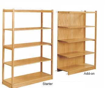 BBR48 Engineered Bamboo Modular Starter Shelving Rack